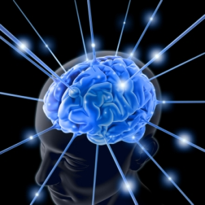 Blue Sparkle Brain Image