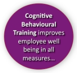 Cognitive behavioural training improves employee well-being in all measurements: