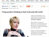 Irish Times article on the 'Coping Skills / CBT for the Unemployed' workshop