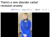 'There's a new disorder called recession anxiety' (interview with the Herald)