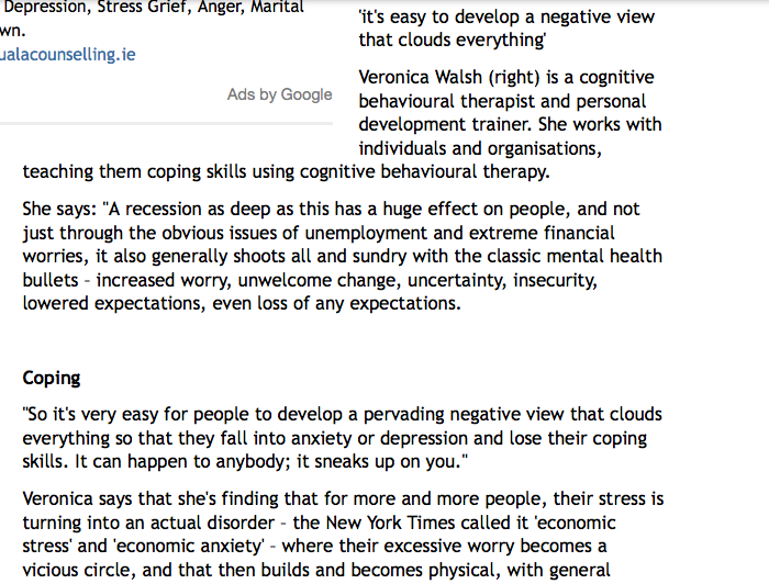 'There's a new disorder called recession anxiety ...