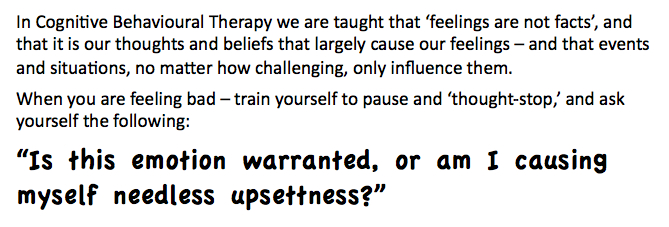 A CBT look at Emotional Reasoning and Thought Stopping (2/4)
