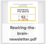 Riwiring the brain newsletter thumbnail