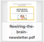 Riwiring the brain newsletter thumbnail
